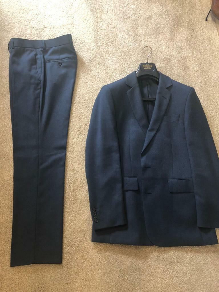Mens Hammond and Co Suits Navy and Grey