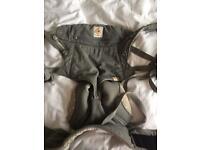 Grey ergo baby 360 carrier with rain cover