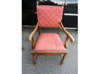 EARLY 20th Century Oak Armchair Sturdy Usable Piece of Furniture .
