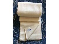 Vintage cream wool blankets