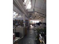 Great studio space, flexible terms, £5000 All inclusive 1840sqft London Fields E8 3SB