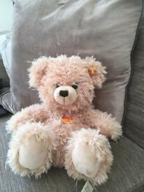 "Sitting poseable bear with soft plush EAN 111655 11"" tall when siyying"