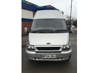 54 ford transit 90 bhp t350 lwb high roof one owner no vat!