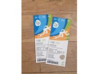 Rio Olympics pair of Athletics tickets 15th August