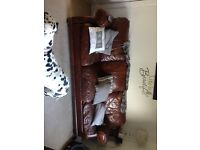 Free 3 seater leather sofa and chair