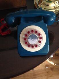 Retro telephone Teal Blue