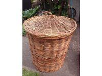 Wicker basket, laundry /washing basket, log basket, toy basket.