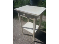 Upcycled, retro table with drawer.