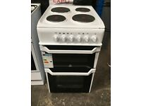 Indesit IT50EW 50cm Twin Cavity Electric Cooker with 4 Burners in White