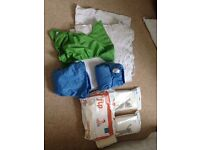 Reusable nappies x10 with wraps and liners