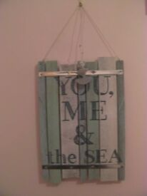 Wall Hanging 'You Me & the Sea' Sign