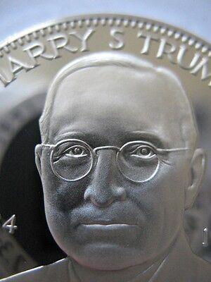 7/8-OZ PRESIDENT HARRY S.TRUMAN FREEMASON MASONIC COIN SILVER.925 + GOLD
