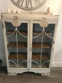 Shabby chic display cabinet £40 off white