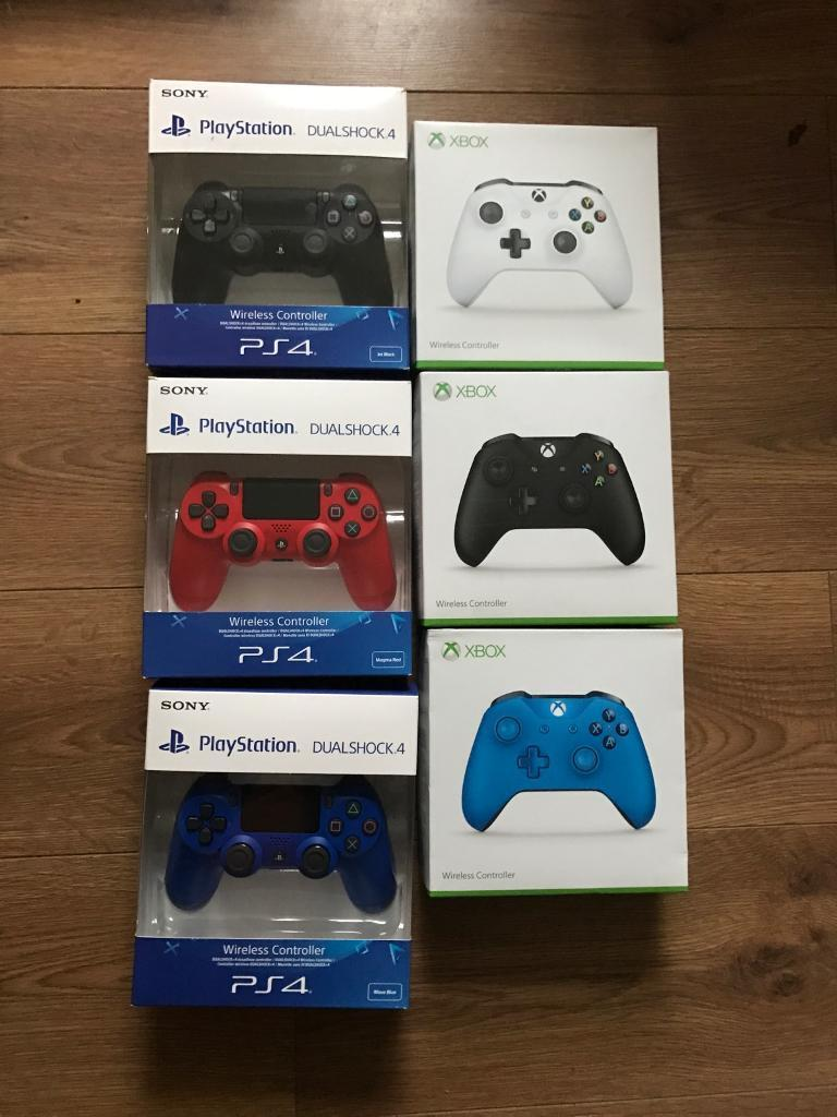Brand new PS4 and Xbox one controllers from