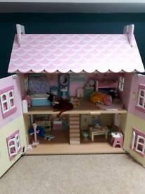 Dolls House, furniture & car