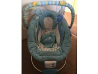 Baby Blue Comfort and Harmony Bouncer by Bright Sparks
