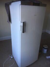 Large AEG full length white fridge