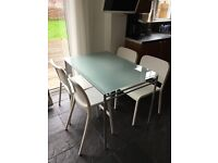 Ikea Frosted Glass Table