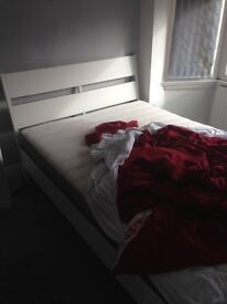 Double bed and mattress like new