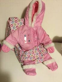 Baby Annabelle Baby carrier and snow suit