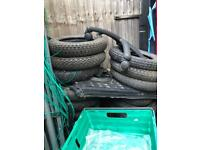 10 inch bike tyres some new some just good con £20 a set new or used