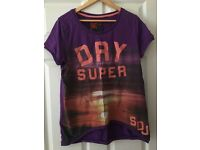 Superdry top size L like new. Purple.