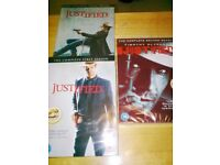 Justified: The Complete First & Second & Third Season.s [SET OF 9 DVD,s] ONLY £30.00
