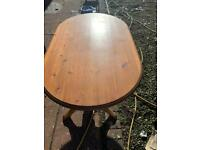 Pine table, 3 chairs