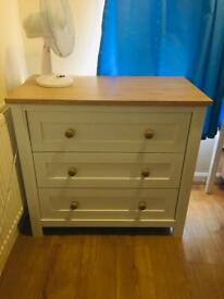 Cotbed and matching drawer lulworth mothercare.