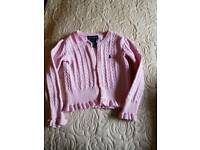 Pink ralph lauren cardigan