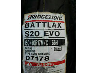 Brand new 150 60 R17 Bridgestone Battlaxe Motorcycle Tyre