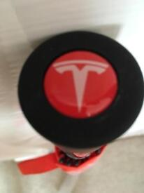 Tesla umbrella orange