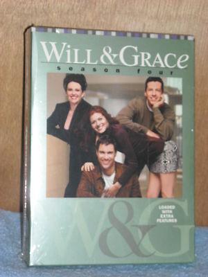 Will  Grace   Season Four  Dvd  2005  4 Disc Set