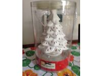 Yankee candle Christmas tree and t lights