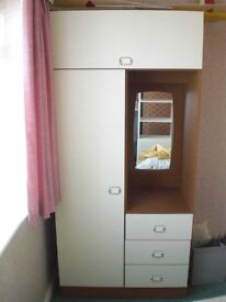 Bedroom furniture set – matching wardrobe & chest of drawers