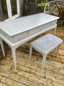 Vintage stag desk and stool