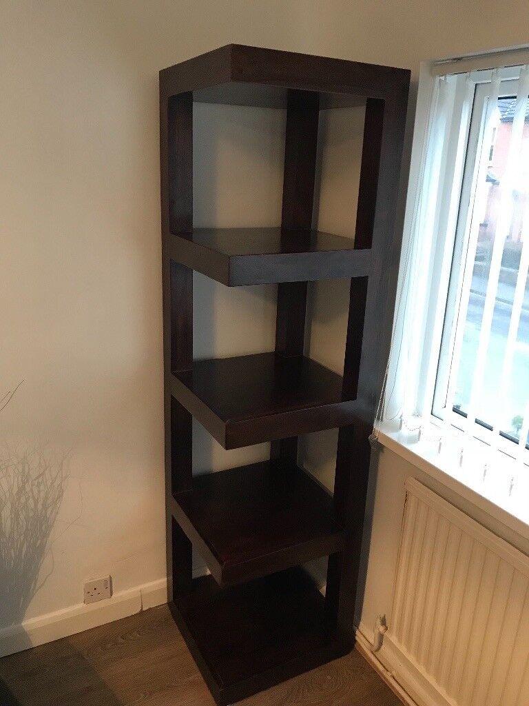 Marvelous Dark Wood Corner Shelf Unit In Faversham Kent Gumtree Download Free Architecture Designs Itiscsunscenecom