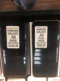 S8 plus / s8 64GB UNLOCKED IN very good condition