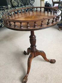 Beautifully ornate, elegant wooden round table perfect touch for living-dining room or library