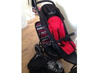 Phil and Teds double pushchair with all the accessories