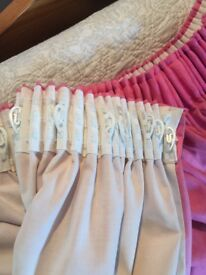 Pair of pink curtains for sale