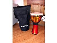 """Toca synergy freestyle djembe 10"""" with rock bag case-brand new"""