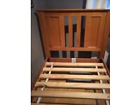 Solid Oak Single Bed Frame - 2 Available