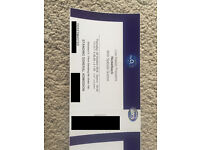 Two Nickelback Standing tickets for the o2, tonight