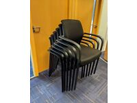 FREE SAME DAY DELIVERY - Deluxe Fabric Stacking Office Conference/ Meeting Chair