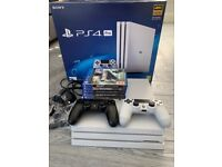 Playstation 4 PS4 Pro 1tb White, 2 x controllers, 5 x games, all cables EXCELLENT CONDITION
