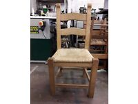 2 chairs solid oak