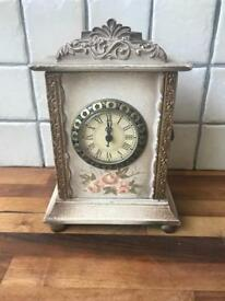 Beautiful Ornate Small Mantle Storage Clock