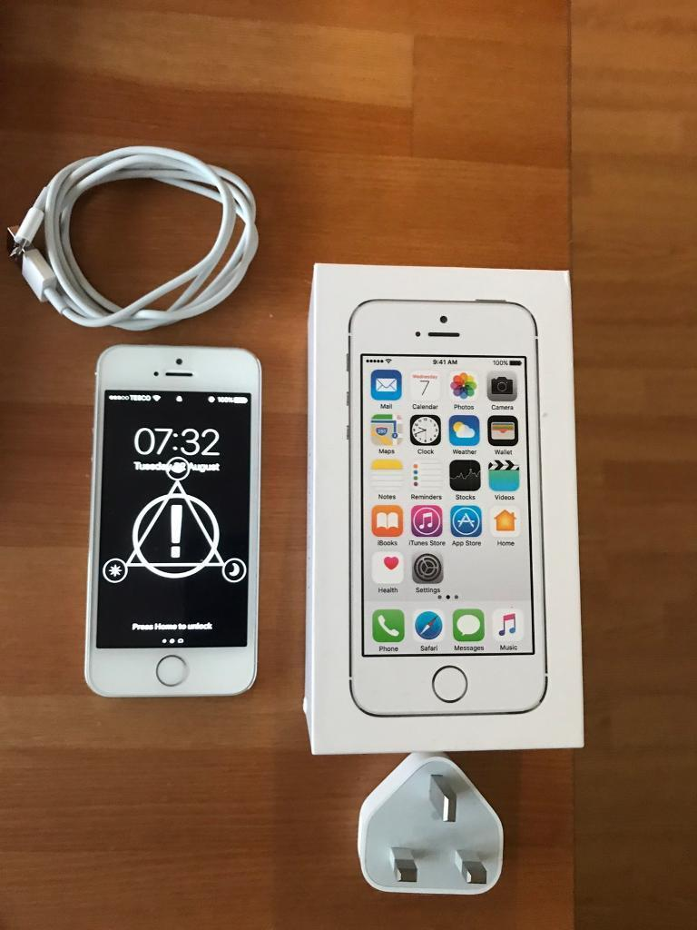 iPhone 5S 16gb silverin Runcorn, CheshireGumtree - iPhone 5S 16gb SilverBox, all cables & earphonesReceipt included from Argos, bought 10/8/17Immaculate condition, front & back protector£130 no offers