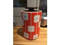 Orla Kiely 2 litre ceramic storage jar with dark wood lid